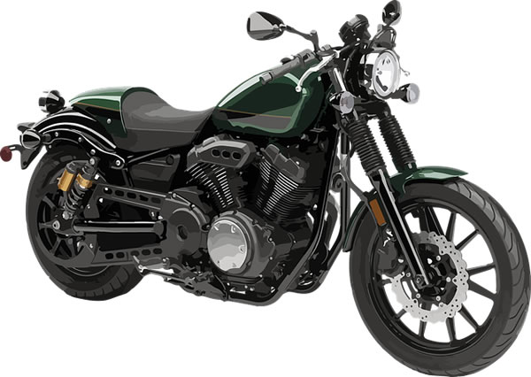 motorcycle green